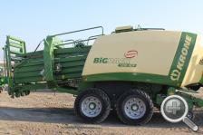 Equipment innovations such as this corn stover baler have helped make harvesting of biomass more practical. (photo by Amy Mayer, Harvest Public Media)
