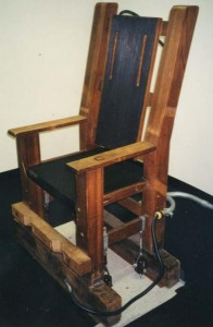 Nebraska's Electric Chair, circa 1995. (Courtesy Neb Dept of Correctional Services)