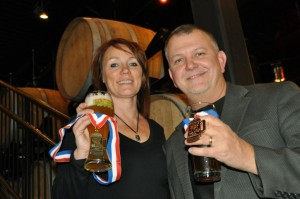 Kim and Paul Kavulak are the owners of Nebraska Brewing Company in Papillion, Neb. They say the beers their brew pub churns out have won more awards than all other Nebraska craft beers combined. They made the nation's #1 barrell-aged beer in 2011. (photo by Ryan Robertson, NET News)