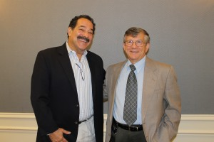 """Gary Susser(L) helped expose an unlicensed doctor on the CBS show, """"60 Minutes."""" He is pictured with Dr. David Crouse, president of the Nebraska Coalition of Lifesaving Cures. Photo by KVNO News."""