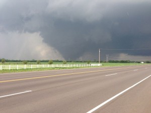 Photo of May 20th Moore, Oklahoma tornado which killed 24 people. (photo courtesy Wiki Commons)