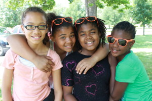 Alonatay Gregory,10,Sara Clark,11,Divyn Williams,10,R'Eyona Belle,11, are a few of the girls the donation from Arby's will benefit.(Photo Courtesy of KVNO News)