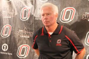 Head coach Don Klosterman earned career win 202 Sunday over North Dakota. (Photo Courtesy KNVO News)