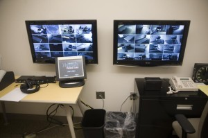 High-definition cameras are placed in every model patient room at the simulation lab at the University of Nebraska Medical Center so that instructors can closely monitor students. (Photo by Hilary Stohs-Krause, NET News)