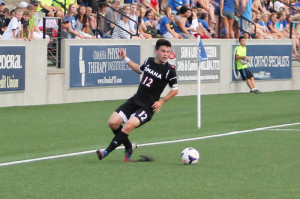 Sophomore defender Logan Mendez had one shot on goal in 76 minutes of duty Tuesday night. (Photo Courtesy UNO Athletics)