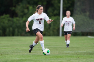 Chelsi Rohloff also had a big game for UNO, notching one goal and two assists. (Photo Courtesy UNO Athletics)