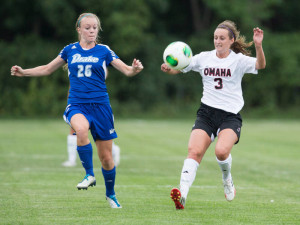 Senior midfielder Monica Bosiljevac scored her second goal of the season for UNO in the game against CU. (Photo courtesy UNO Athletics)