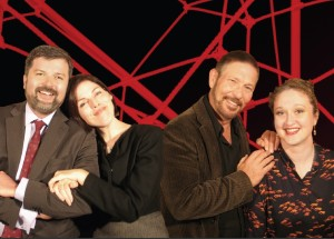 The Cast of 'God of Carnage': (from left) Ablan Roblin, Jill Anderson, Jerry Longe, and Theresa Sindelar