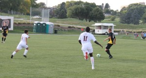 Vance Rookwood (11) leads UNO with three goals this year. (Photo Courtesy KVNO News)