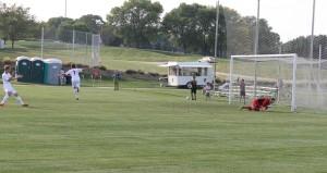 The Mavericks only goal was scored on a penalty kick by Emir Alihodzic (7) (Photo courtesy KVNO News)