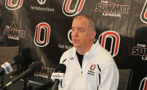 Darrin Hansen enters his ninth season as UNO's head coach. (Photo courtesy KVNO News)
