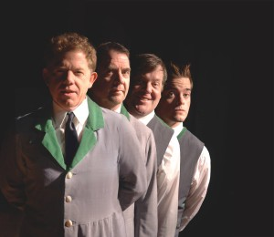 The Cast of Jacob Marley's Christmas Carol. From Left: Nils Haaland, Kevin Barratt, Scott Working, and Bill Grennan.