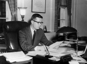 Lincoln native Ted Sorensen was a longtime aide and speech writer for John F. Kennedy (White House photo)