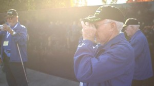 Nebraska veterans were given disposable cameras to take photos on their trip to the Korean War Veterans Memorial. (Photo by Greg Grosse, NET)
