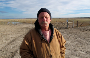 """Dave Moody pulled more than 120 cattle out of a ravine where they died during the blizzard. """"About the first 10 or 15 head you said, 'yuck.' Then it turned into a job and you just did it."""" (Photo by Grant Gerlock, NET News/Harvest Public Media)"""