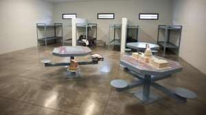 Washington County Jail in Kansas was built in the so-called pod structure, with inmates living together in large, communal rooms. (Photo by Hilary Stohs-Krause, NET News)