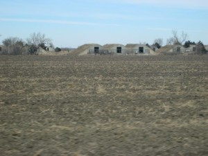 The old military bunkers still cover the landscape east of Hastings. (Photo by Ariana Brocious, NET News)