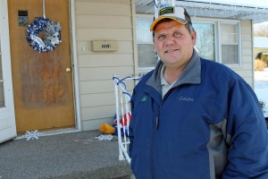 Clayton Lang lived on McKissick Island for most of his life. He now lives in Hamburg, Iowa, but still farms about 1,000 acres on McKissick Island. (Photo by Mike Tobias, NET News)