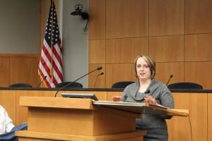 Jenni Hoemann speaks at Drug Court graduation. (Photo courtesy of Lancaster District Court)
