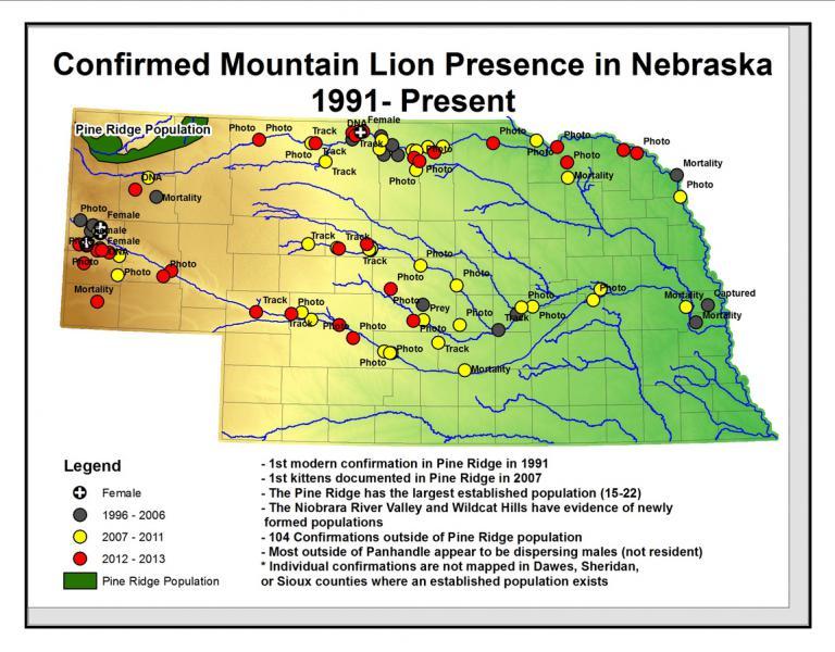 nebraska public land map Do We Need To Hunt Mountain Lions In Nebraska Kvno News Kvno News nebraska public land map