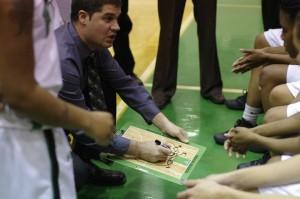 Jon Perone (center) coaches his Benson girls' basketball team. (Photo Courtesy Jonathon Perone)