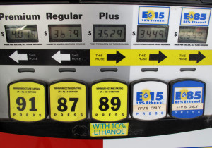 Only about 2,500 gas stations offer E85 for flex fuel vehicles, primarily stations in the Midwest where most ethanol is produced. (Photo by Grant Gerlock)
