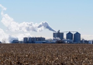 Just outside of Central City, Neb. is the Green Plains Energy ethanol plant, a facility that can produce 100 million gallons of ethanol each year. (Photo by Grant Gerlock, NET News/Harvest Public Media)