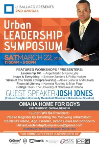 Josh Jones is the guest speaker for the second annual Urban Leadership Symposium. (Photo Courtesy Pierre Johnson)