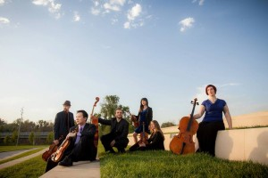 Rangbrook Ensemble's Sophia Potter (far right) will be touring through Nebraska.