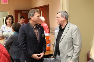 Bart McLeay (left) at the Washington County Republican Party candidate forum in Blair. (Photo by Mike Tobias, NET News)