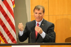 Bart McLeay during the Republican Senate debate in Lincoln. (Photo by Mike Tobias,NET News)