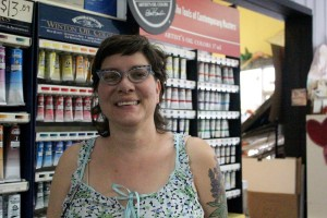 Peggy Gomez, owner of Gomez Art Supply, doesn't know if her sales will ever go back to being the way they were before the recession. (Photo by Jackie Sojico, NET News)