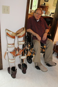 Ted Roche was 14-years-old when he received his first pair of leg braces. (Photo Courtesy KVNO News)