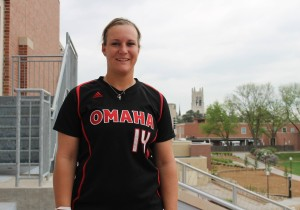 Amber Lutmer finished her Maverick career with a UNO record 51 home-runs. (Photo Courtesy Brandon McDermott)