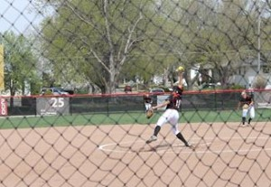 Ace-pitcher Dana Elsasser ended her career with a record of 71-24. (Photo Courtesy Brandon McDermott)