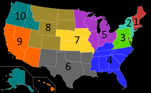 Regions of the United States Environmental Protection Agency (Courtesy of the EPA)