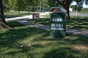 One isolated incident at Benson Park in May has brought forward a possible hike in fines for littering at Omaha parks. (Courtesy KVNO News)