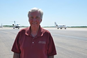 Mike Sharkey is the director of the North Platte Regional Airport. He says since the new FAA rule is forcing so many flights to be cancelled, many of the businesses at the airport (the restaurant, car rental agencies, etc.) are also starting to suffer. (Photo by Ryan Robertson, NET News)