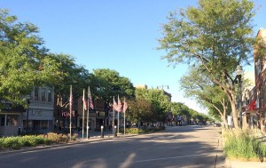 Norfolk's downtown on a quiet day. One of the town's claim to fame derives from the fact Johnny Carson, the former host of The Tonight Show, and the epitome of Nebraska Nice, grew up here.  (Photo by Bobby Caina Calvan, The Heartland Project)