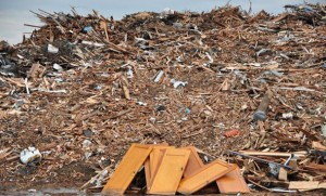 One of the debris piles from Pilger. (Photo by Ryan Robertson, NET News)