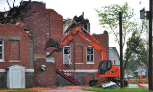 The Pilger school is demolished. (Photo by Ryan Robertson, NET News)