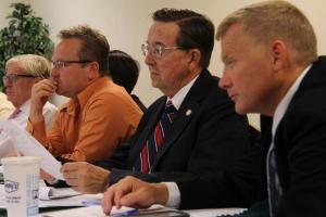 Senators Brad Ashford, Colby Coash, Al Davis, Mark Christensen of the Judiciary Committee (Photo: Bill Kelly/NET News)