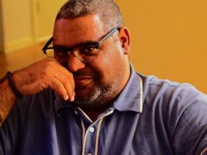 Award winning writer Chris Abani delievered the 19th Annual Governor's Lecture at the Lied Center in Lincoln. (Photo courtesy Chris Abani)