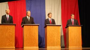 Four U.S. Senate candidate debate the issues in North Platte, Nebraska. (Photo by Fred Knapp, NET News)