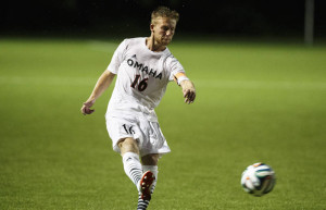 Sophomore midfielder Mark Moulton had a goal and an assist against Santa Clara. (Photo Courtesy UNO Athletics)