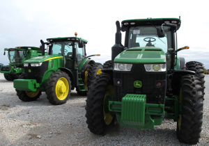 Tractor manufacturer, John Deere, plans to lay off 1,000 workers because fewer farmers are expected to buy big equipment this year. (Photo by Grant Gerlock, NET News/Harvest Public Media)
