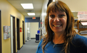 Cindy Hayes is a nurse practioner and director of the UNK Health Care facility. (Photo by Ryan Robertson, NET News)