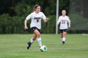 Chelsi Rohloff leads the Summit League with nine goals and she is second  with 21 total points (Photo Courtesy UNO Athletics)