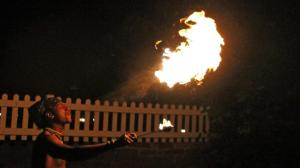 Jack The Fire Breather. (Photo by Bill Kelly, NET News)