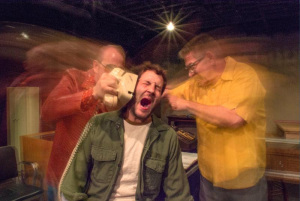 The cast of 'American Buffalo' (from left): Thomas Becker (Teach), Jonathan Purcell (Bobby), and Jerry Longe (Donny